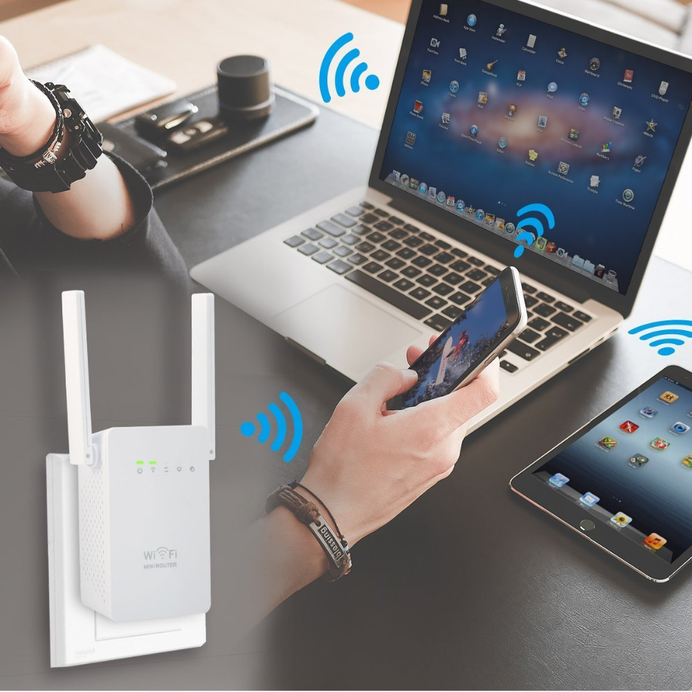 300 Mbps Mini Router WiFi Repeater Netwerk Range Extender Booster - Netwerkapparatuur - Foto 5