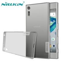 For Sony XZ Case Cover Nillkin Nature Transparent Clear Soft Silicon TPU Case Xperia XZ Cover