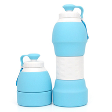 580ml Creative Silicone Sports Drinking Water Bottle Collapsible Foldable Leak Proof Outdoor Camping My BPA Free