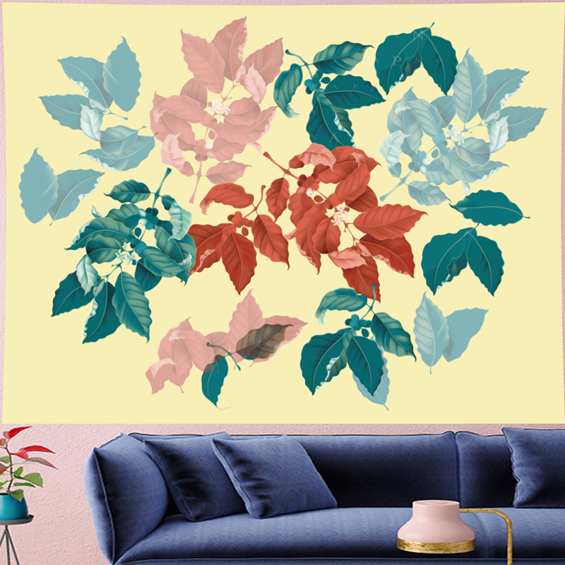 Image 3 - Nordic Style Summer tropical leaf plantain yellow macrame Tapestry Vintage Retro Polyester Wall Hanging home decor GN.PAPAYA-in Tapestry from Home & Garden
