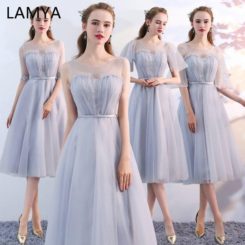 Lamya Sweet 4 Style Bridesmaid Dresses Princess Simple Dress For