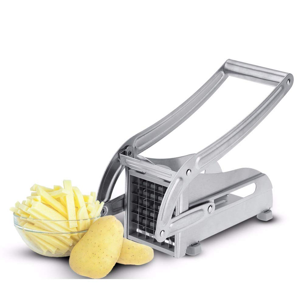 Effective Potato Chips Making Machine Stainless Steel French Fry Potato Cutter Slicer Chipper Cucumber Slice Cut Kitchen Gadgets