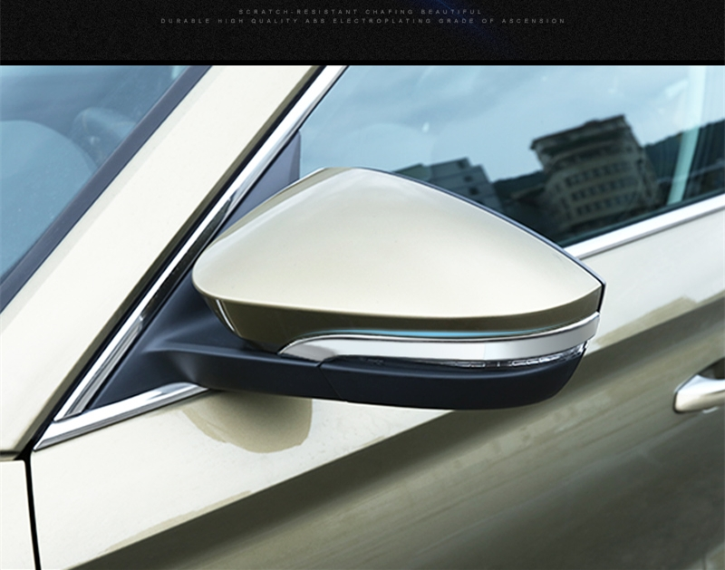 Car ABS Chrome Rearview Mirror Protective  Cover trim For Skoda Karoq 2018