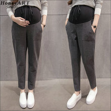 Pregnant women pants leggings pants Loose big yards pants Joe abdominal maternity Haroun pants DD367z