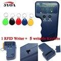 Handheld Leitor de 125 KHz EM4100 RFID Copiadora Escritor Duplicador Programador + 5 pcs EM4305 Regraváveis Keyfobs ID Tags Cartão T5577 5200