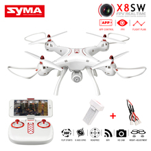 SYMA X8SW FPV RC Quadcopter Drone dengan Kamera 2MP 2.4G 6-Axis APP Control, Rencana Penerbangan, Melayang Wifi RC Helikopter Vs MJX Bugs 3