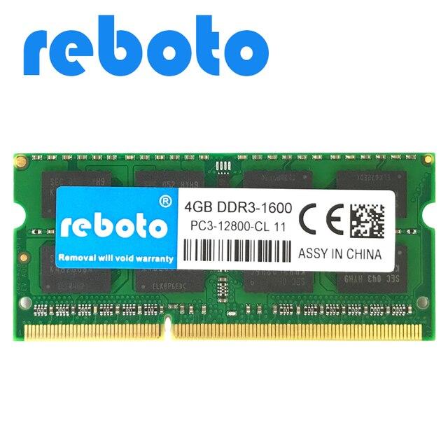 Reboto Ddr3 4gb 1600mhz Pc3 12800 For Laptop Ram Memory 204pin