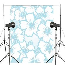 Exquisite Hibiscus Floral Pattern Photography Backdrops baby Blue photo studio backgound 5x7ft Interior wallpaper wall painting