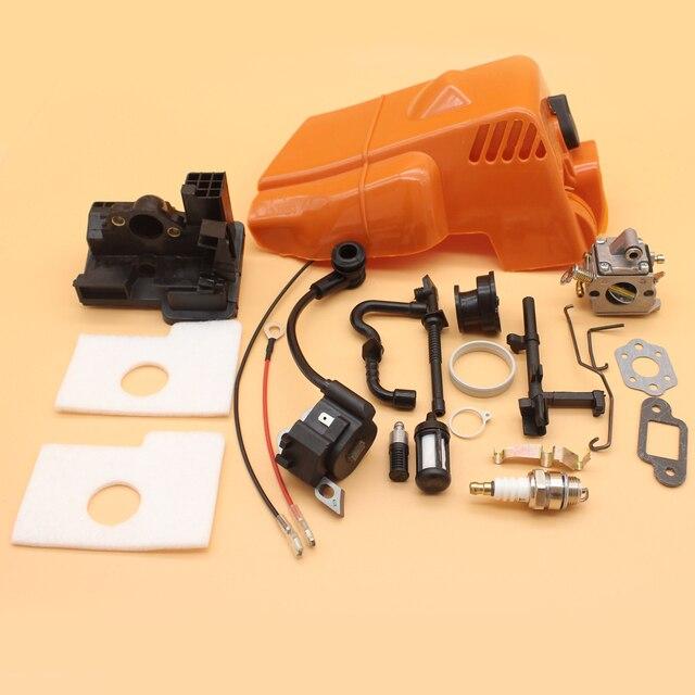 Tampa do cilindro Do Motor Sudário Kit Filtro de Ar Para MOTOSSERRA STIHL  MS180 MS170 Carburador 651e2fd0fc