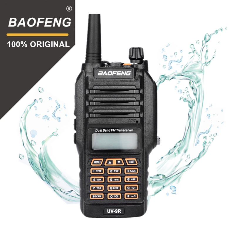 100% Originale Baofeng UV-9R IP67 8 W Lungo Raggio Walkie Talkie 10 km Radio Amatoriale Dual Band UV9R Portatile CB Comunicatore radiofonico