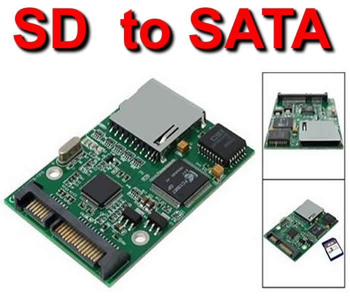 sdhc sd card to sata solid state hard drive hard disk converters adapters in computer cables. Black Bedroom Furniture Sets. Home Design Ideas