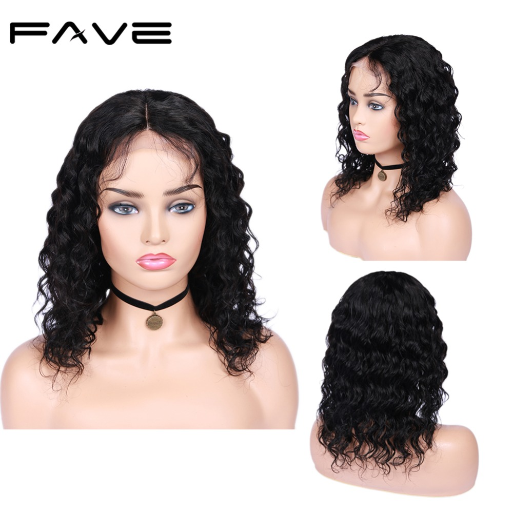 Human Hair Wig 4*4 Lace Closure Loose Wave Human Hair Wigs With Baby Hair Brazilian Remy Wigs Free Shipping For Women FAVE