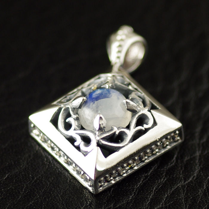 925 pure silver inlaying moonstone 925 pure silver pendants