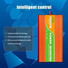Aluminium Alloy Continuous Pure Sine Wave Inverter High Frequency Surge Peak Power Watt Power Inverter300/500/600/800/1000/2000W
