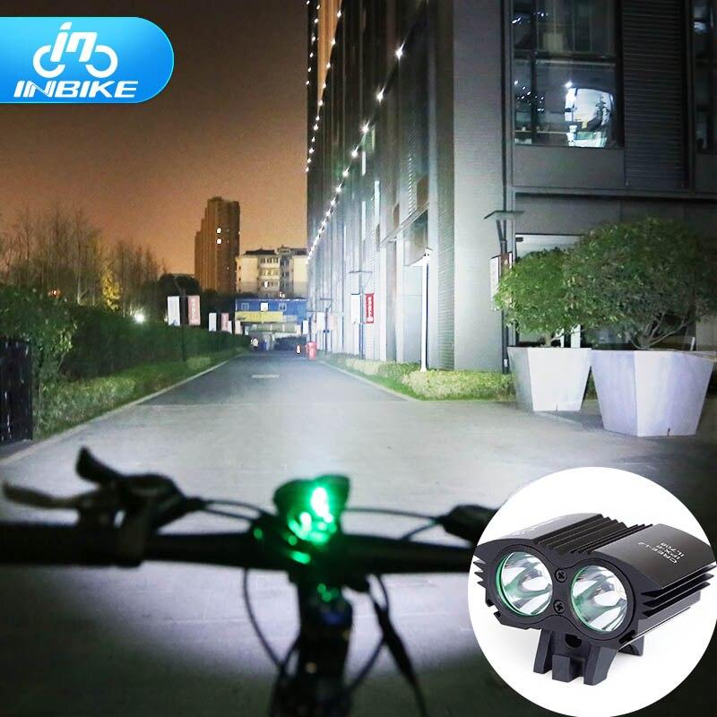Inbike bicicleta luz de la linterna impermeable para bicicleta de manillar led l