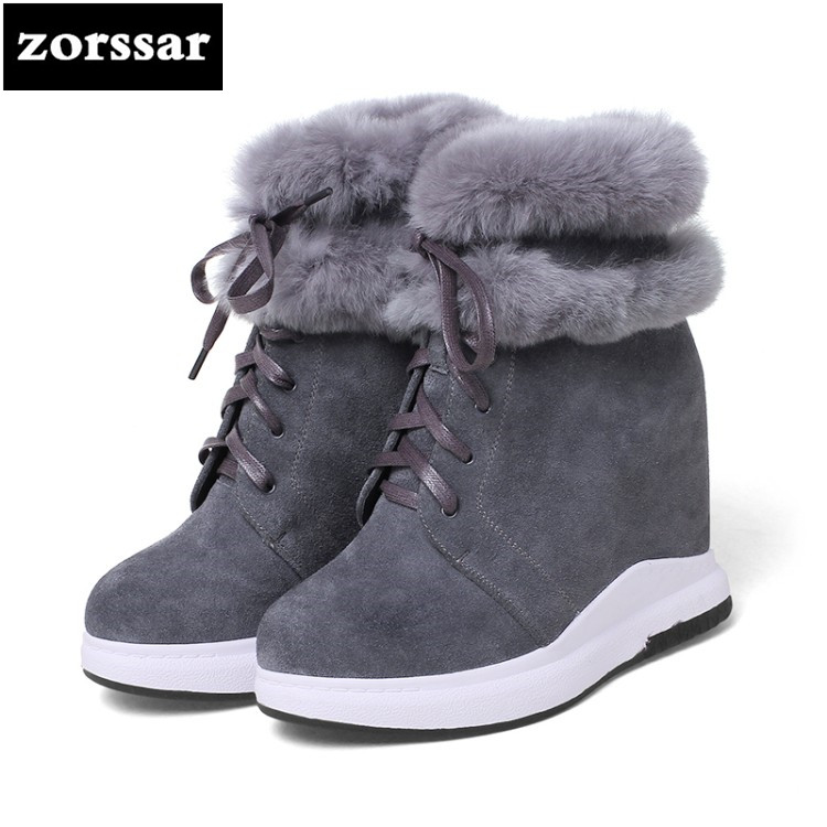 {Zorssar} 2018 New winter Warm Plush snow boots women High heel ankle boots Female platform shoes botas nieve mujer invierno zorssar 2017 new classic winter plush women boots suede ankle snow boots female warm fur women shoes wedges platform boots