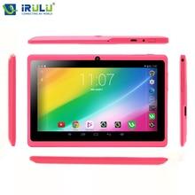 iRULU  eXpro X1s 7'' планшет четыре ядра 16ГБ ПЗУ система Android4.4.2 двойная камера 1024*600 HD поддержается WIFI с клавиатурой горячий