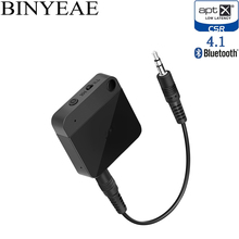 Binyeae Bluetooth 4.1 aptx low latency stereo home TV RCA 3.5mm transmitter receiver wireless audio adapter handsfree car kit