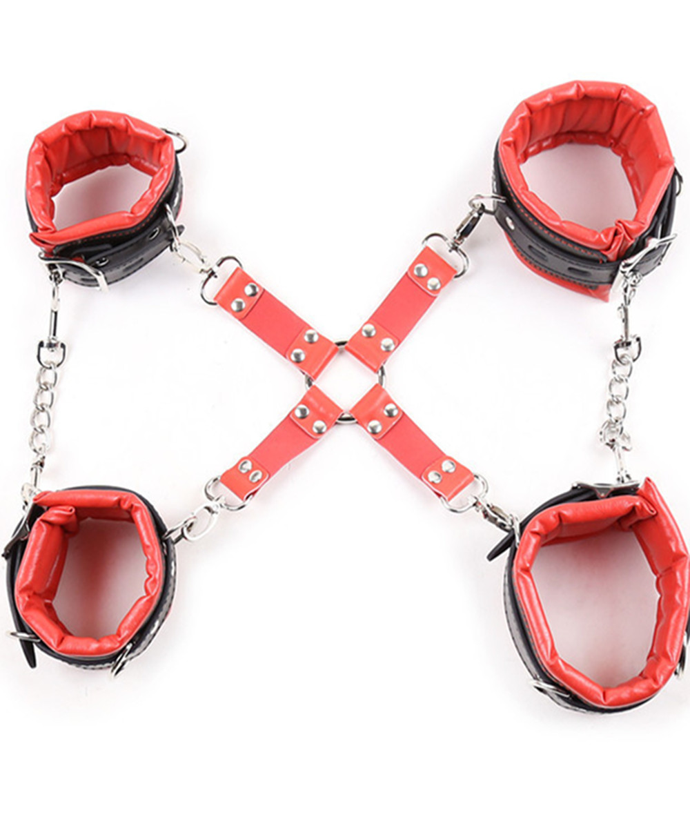 Buy Soft Sponge Leather Hand Wrist Ankle Cuffs Bondage Restraints Slave Belt Adult Game,Fetish Erotic Sex Flirting Toys Women