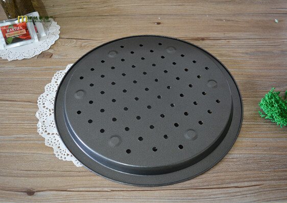 1pc 14 inch perforated pizza pan thick pizza pan non stick baking cake mold hot sale