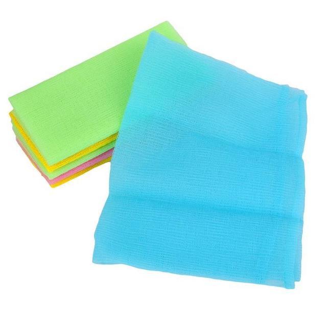 1PC Nylon Mesh Bath Shower Body Washing Clean Exfoliate Puff Scrubbing Towel Cloth Scrubber Soap Bubble For The Bath Like Loofah 1