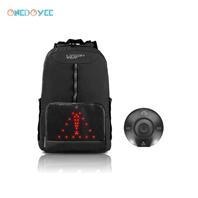 Onedoyee Safety Riding Backpack Waterproof Outdoor Smart LED Turn Signal  Lights Unisex Leisure Sports Bag Cycling Backpack 15L 2a324285359d