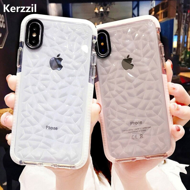 more photos 64b8b f92b9 US $1.34 21% OFF|Kerzzil Luxury Jelly Phone Case For iPhone X XR XS Max  Soft TPU Transparent Case Shockproof Clear Cover For iPhone 7 8 6 6s  Plus-in ...
