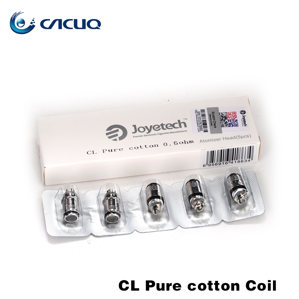 100% Original Joyetech CL Pure Cotton Head 0.5ohm 1.0ohm coil for eGo ONE V2/eGo ONE Mega V2 Atomizer Joyetech Coil 5pcs/lot