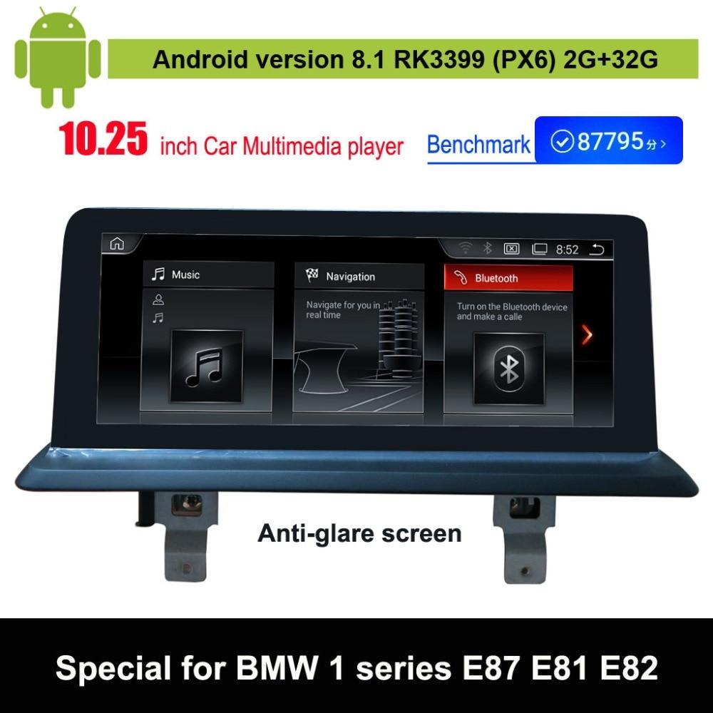 Lecteur multimédia de voiture Android 8.1 pour BMW série 1 E87 E88 E81 E82 Navigation GPS automatique