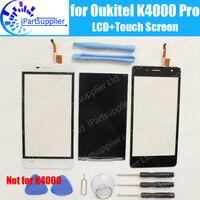 Oukitel k4000プロlcdディスプレイ+タッチ画面100%オリジナルテスト済み液晶+デジタイザガラスパネル交換用oukitel k4000プロ