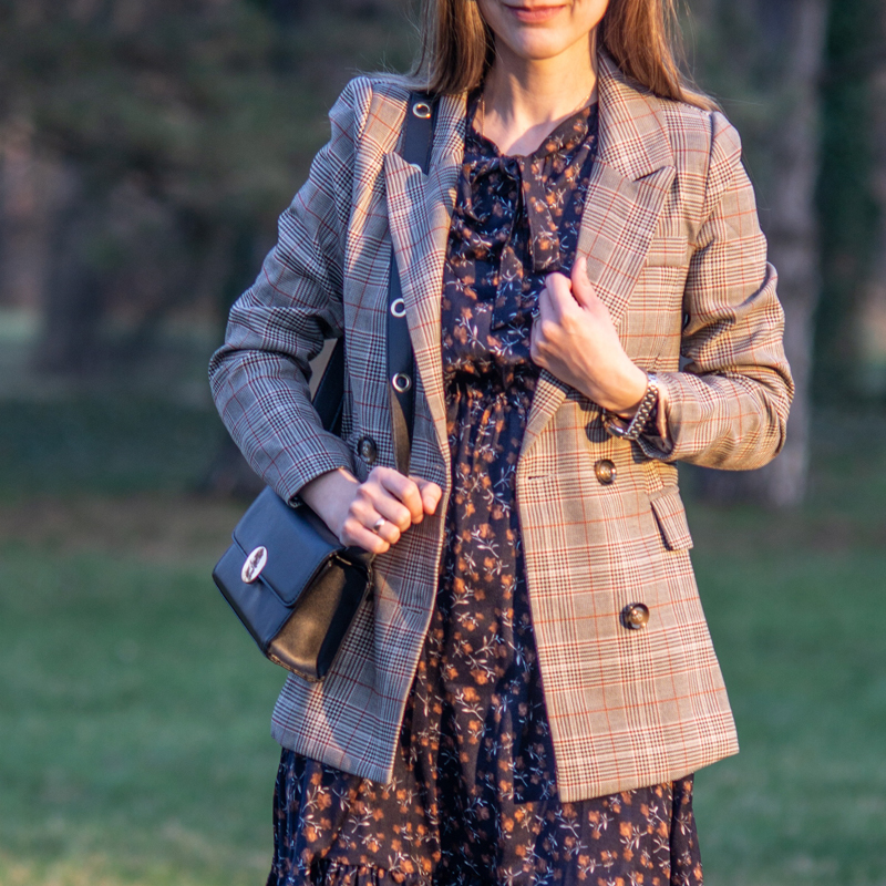 Vintage Plaid Women Jacket Blazer Double-breasted Slim Full Sleeve Female Blazer 2019 Suit Coat Streetwear Blaser Feminina