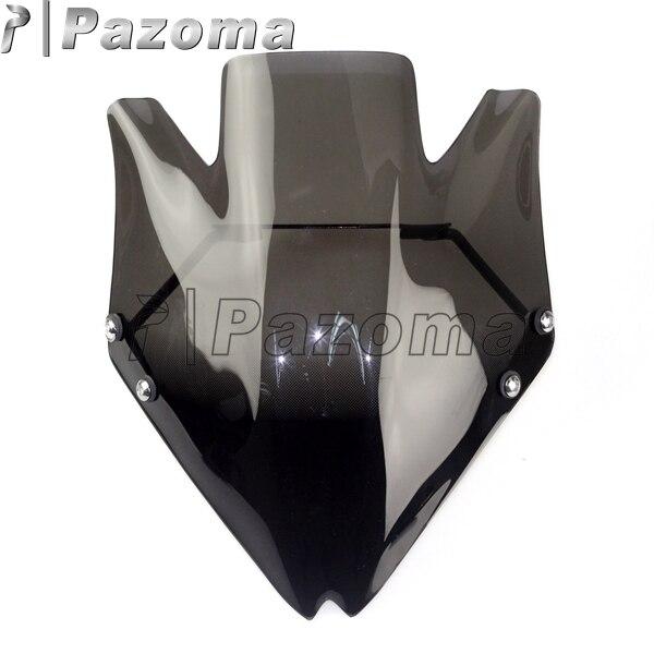 PAZOMA New Black Motorcycle Windshield Windscreen For Kawasaki Z750 Z750R 2007 2012