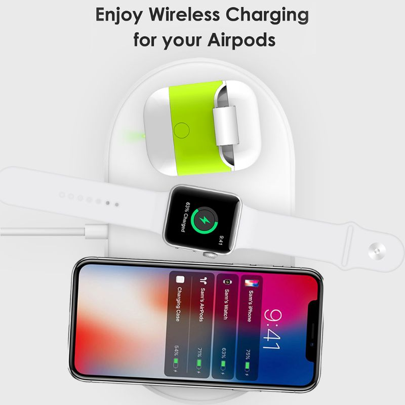 Wireless Charge Case For Airpods QI Standard Airpods Wireless charging Receiver Cover Compatible With Any Wireless Charger