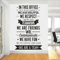 "Office Rules Wall Sticker "" We Are A Team"" Increase Team Cohesion Inspiring Quotes Vinyl Wall Decal Mural Office Decor A701"