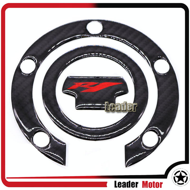 For YAMAHA YZF-R1 YZFR1 YZF R1 Motorcycle Accessories Carbon Fiber Oil Gas Cap Tank Pad Tankpad Sticker Protector Decal
