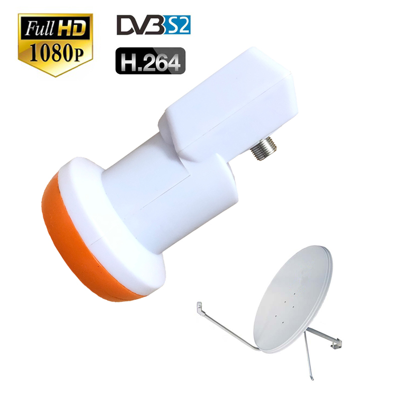 DVB-S2 HD Digital Tv Antenna Waterproof Universal KU Band Single LNB Low Noise 0.1 DB Satellite Dish Tuner For Cccam Tv Box