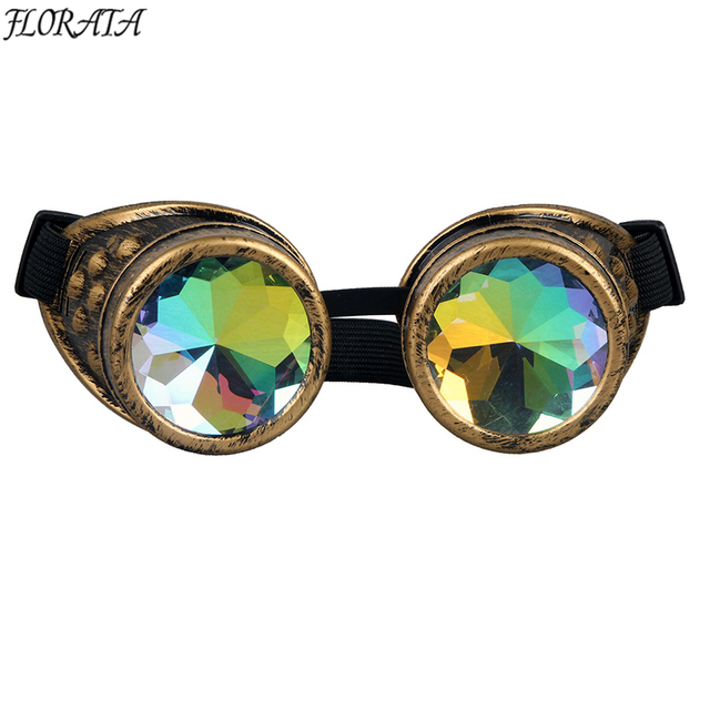164dae9007 New Fashion Vintage Style Steampunk Goggles Welding Punk Gothic Colourful  Glasses Gothic Cosplay Men Women Cool