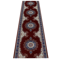 Customize Red Persian Hallway Carpet Pastoral Rugs Corridor Floor Mat wedding Aisle Stairs Anti slip Kitchen Door Mat Blanket