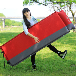 Image 3 - 2020 Hot sale (170+25)*65*5cm single person automatic inflatable mattress outdoor camping fishing beach mat on sale/ wholesale