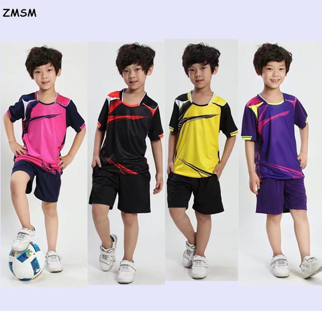 2463350f1 ZMSM 2017 Kids Soccer Jerseys shorts Breathable Vogue Match Training Suit  Football Uniforms Custom For Children al15010B