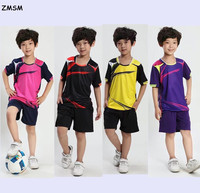 AXFAM 2017 Kids Soccer Jerseys Shorts Breathable Vogue Training Set Uniforms Football Suits Can Customize For