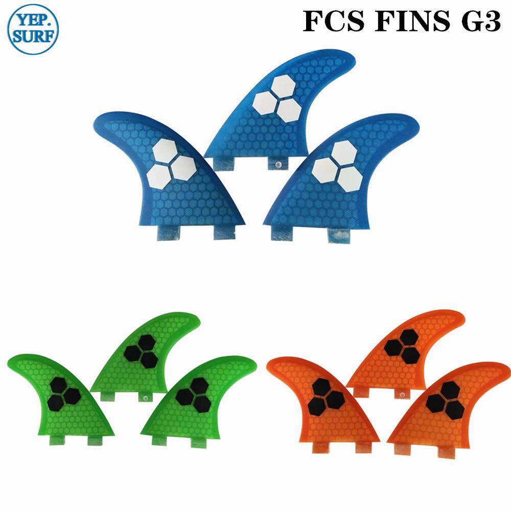 FCS Fin G3 Surfboards Fins /Blue/Green FCS Fin Surfing Fin Quilhas Thruster