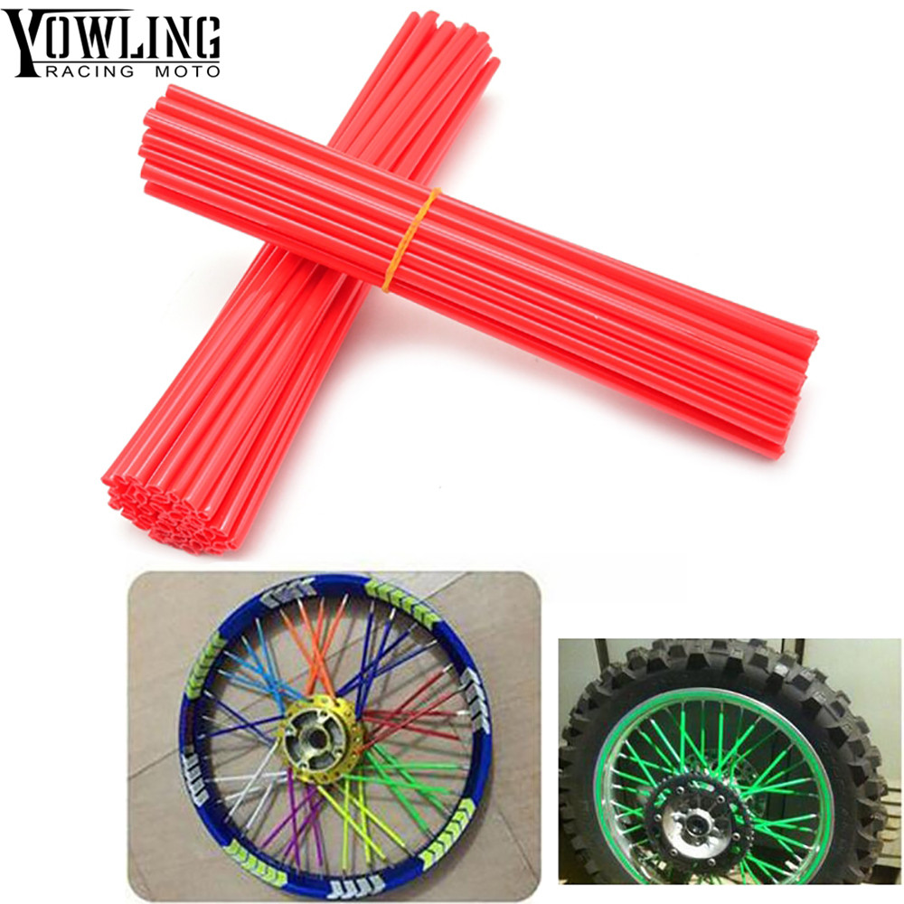 36Pcs Wheel RIM Spoke Skin Sticker Cover Accessories Motocross Dirt Bike For SUZUKI DR DRZ RMX DJEBEL 400E 400S 400SM 450Z 650SE