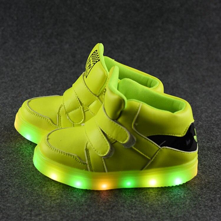 2017 nouvelles chaussures d'automne enfants Gobon chaussures de sport légères chaussures de sport en gros lampe à LED - 2