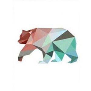 Image 5 - Diseño geométrico de ciervo oso flamenco cuadro sobre lienzo para pared cartel de Anime nórdico niños dormitorio decoración de pared fotos sin marco