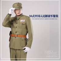 The Chinese People's Liberation Army PLA 56 style uniform Featured film and television Military Outfit Volunteer Korean War show