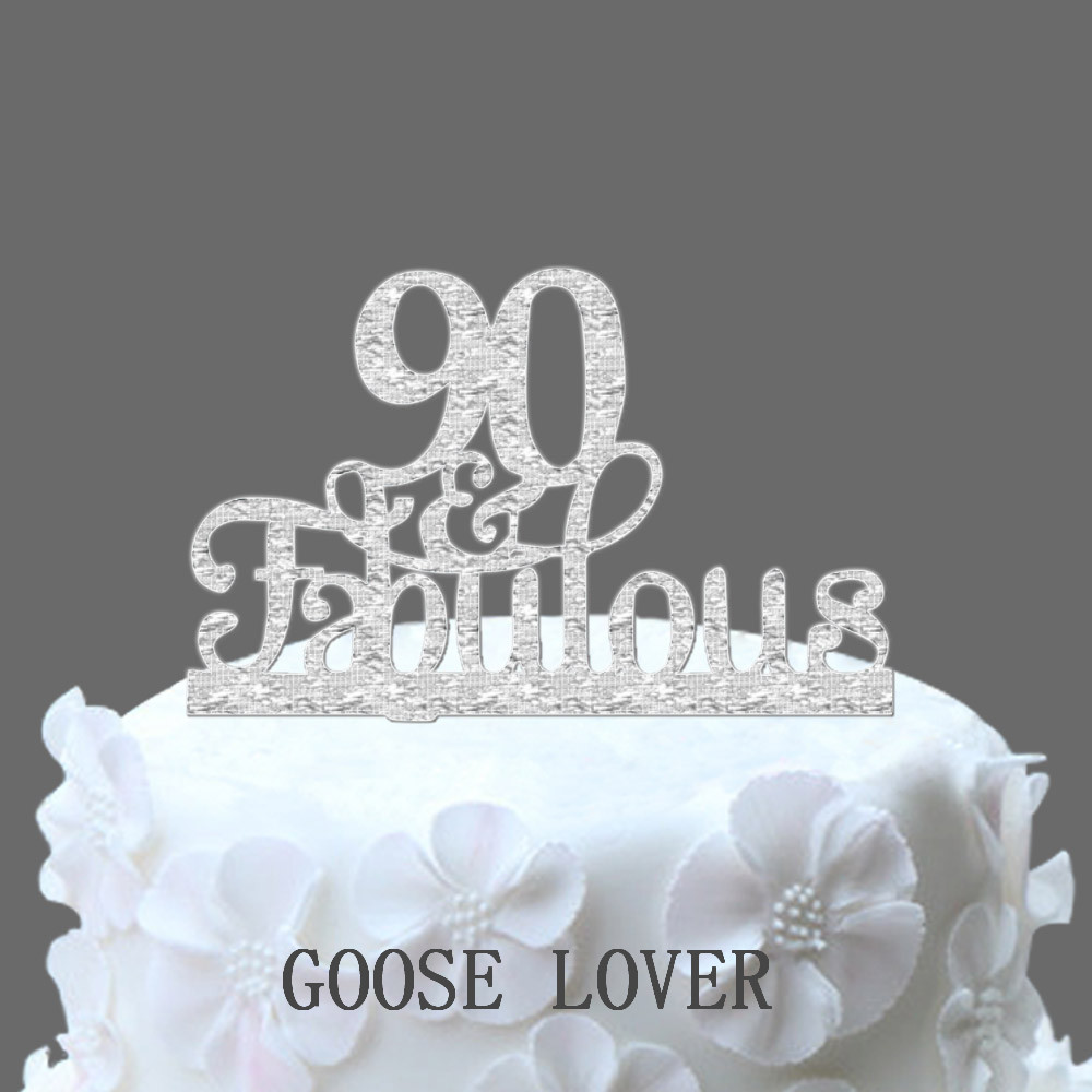 90th Birthday Cake Topper PromotionShop for Promotional 90th