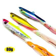 3pcs  80g 2.8oz  Japan Inchiku Jigs with Octoups Assist Hook, Squid Jigging, Saltwater Bottom Ship Snapper Fishing Lure