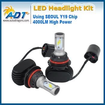 High Power H11 9005 9006 H16 5202 9012 Single Beam Front Head Lamp 24V Car Led Headlight Kit DC9V-32V Seo-CSP 4000LM 6000K