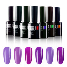 ახალი 1pc ორგანული UV LED Soak Off Nail Art Design Purple violet Gel Nail Polish 10ml